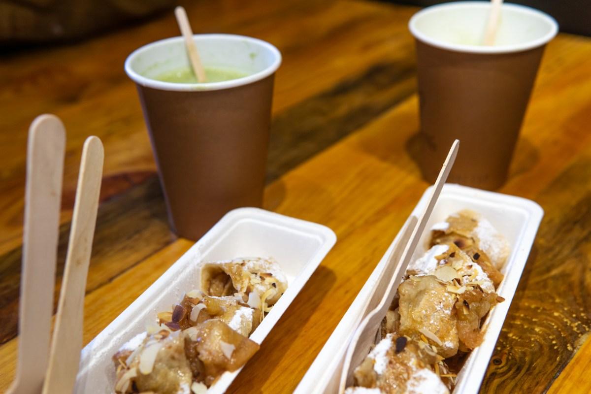 Amsterdam vegan essen Happy Pig Rolled Pancake und Matcha