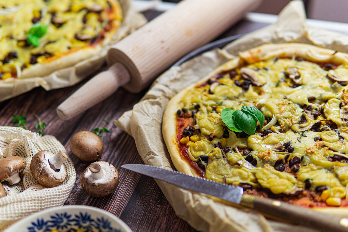 Tex-Mex Pizza vegan