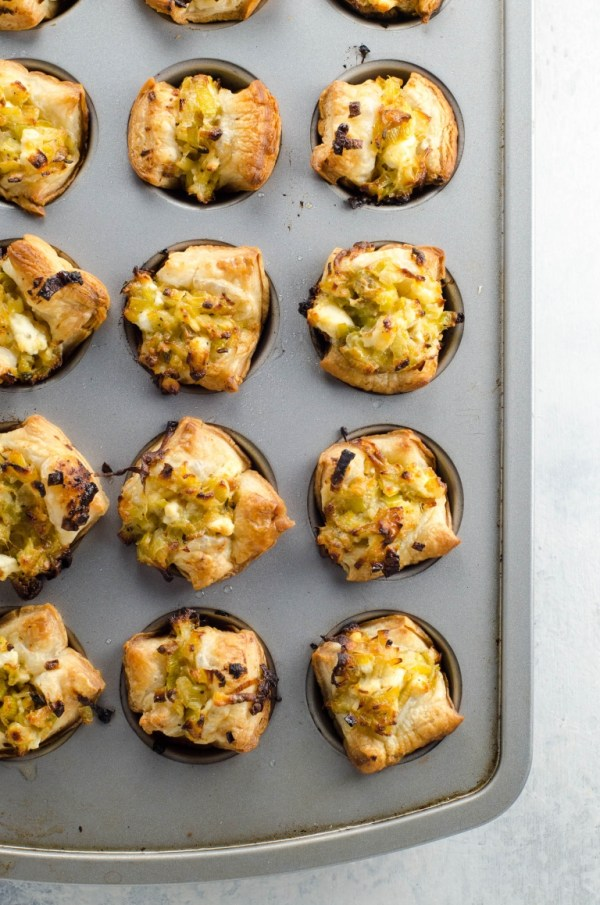 Easy Appetizers: Creamy Leeks in Puff Pastry Cups   Umami Girl