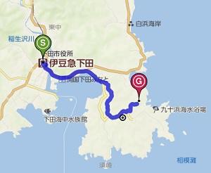須崎御用邸地図