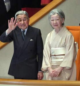 2017年大相撲初場所観戦の天皇皇后両陛下