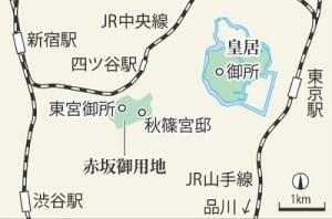 赤坂御所の地図