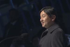 札幌アジア大会閉会式の皇太子殿下