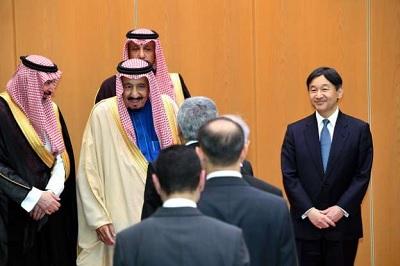 サウジアラビアの王様をお出迎えするなるちゃん皇太子