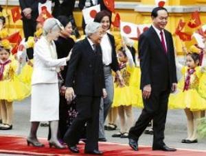 天皇皇后ベトナム歓迎式典