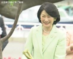 全国都市緑化祭紀子妃殿下植樹笑顔