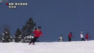 スキーをする愛子さま