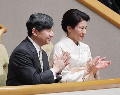 福井新聞大相撲観戦する皇太子と雅子さま