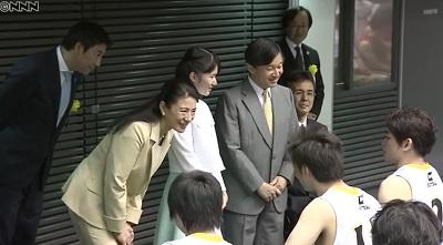 試合あと皇太子、雅子さま、愛子さまにお声がけしてもらう選手たち