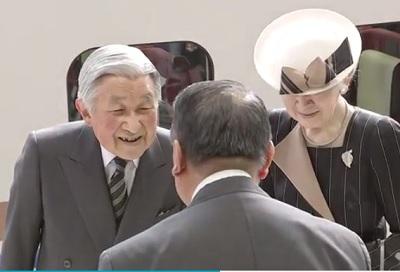 午前11時天皇皇后富山へ