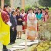 眞子さまinブータン・王族に迎えられ花の博覧会ご出席