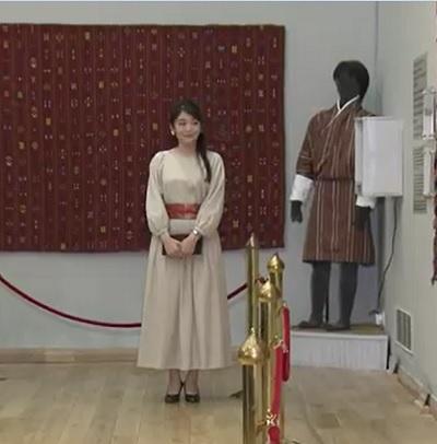 織物博物館での眞子さま