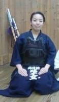 剣道着の瑤子さま