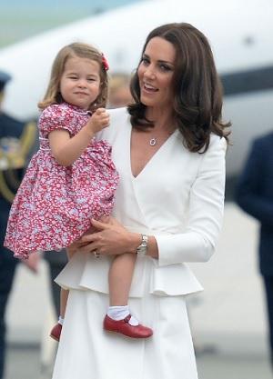 キャサリン妃とシャーロット王女