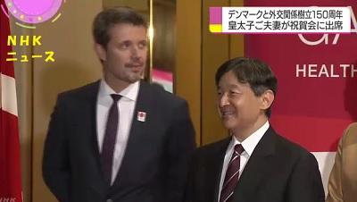 フィレデリックデンマーク皇太子と日本の皇太子