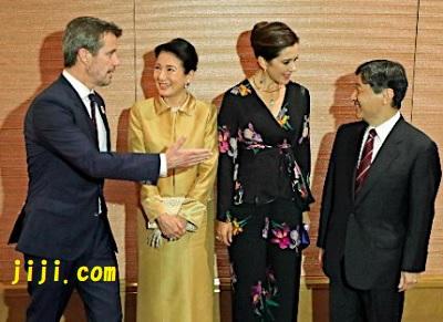 デンマーク皇太子夫妻と皇太子と雅子さま