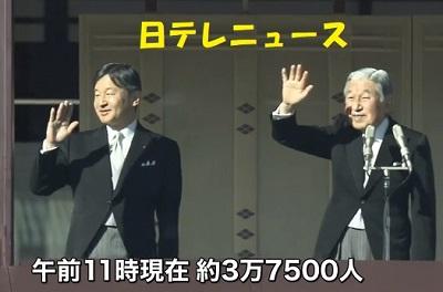 84才天皇誕生日一班参賀天皇と皇太子