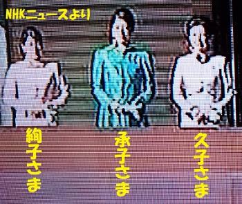 高円宮久子さま承子さま絢子さま2018年一般参賀