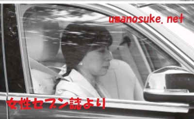 皇太子と雅子さま銀婚式の内宴に出席のため御用地内に入る節子さん