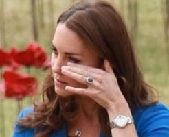 キャサリン妃の涙