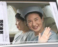 誕生日のあいさつのため、皇居に入られる皇太子妃雅子さま(9日午前10時53分、皇居・半蔵門で)=武藤要撮影
