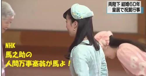 天皇皇后結婚60周年眞子さま佳子さまご挨拶