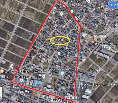 google地図より小牧5丁目