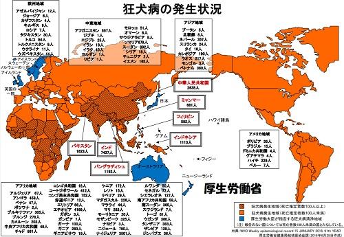狂犬病発生国
