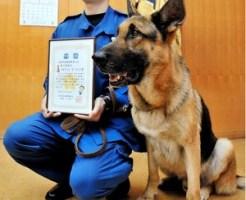 警察犬お手柄