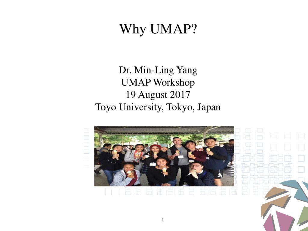 thumbnail of UMAP Workshop #3 – By Dr. Min-Ling Yang