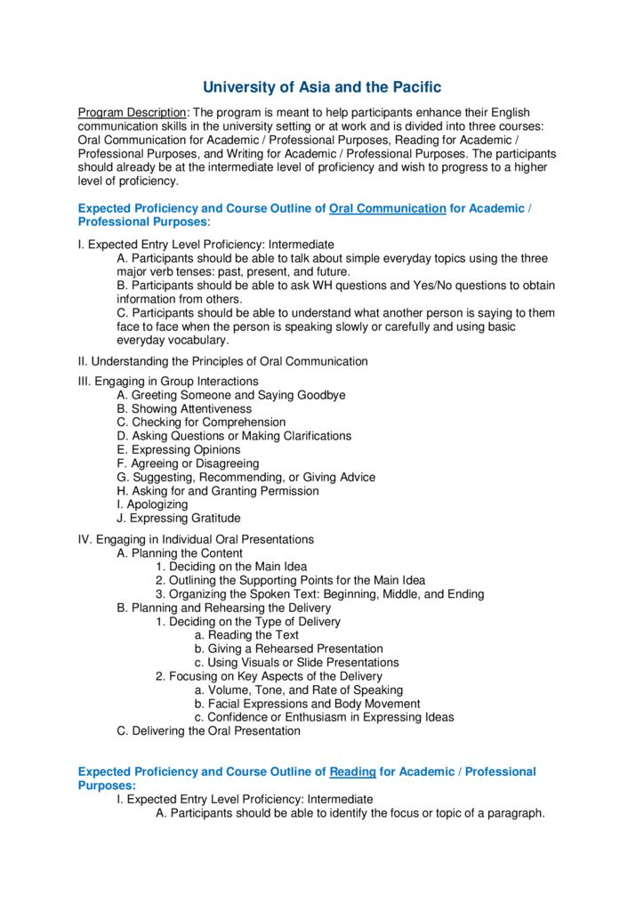 thumbnail of University of Asia & the Pacific Detailed Program