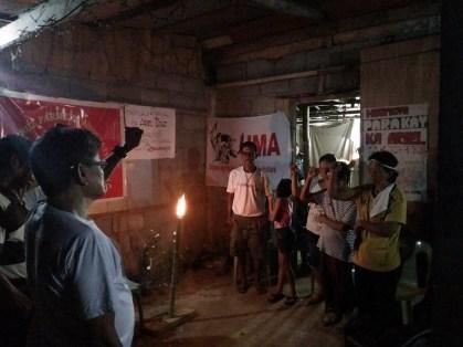 Tribute to Ka Ariel in Villa Pereda, Delfin Albano, Isabela. Photos by Karapatan-Cagayan Valley