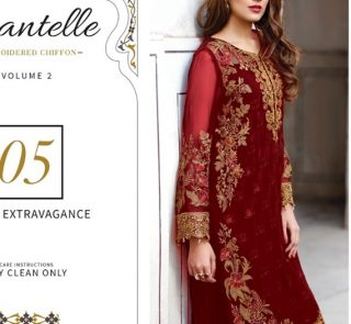 Chantelle Embroidered Chiffon Collection Vol-05 (D-05E)