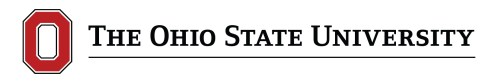 Ohio State University Logo in White (and red)