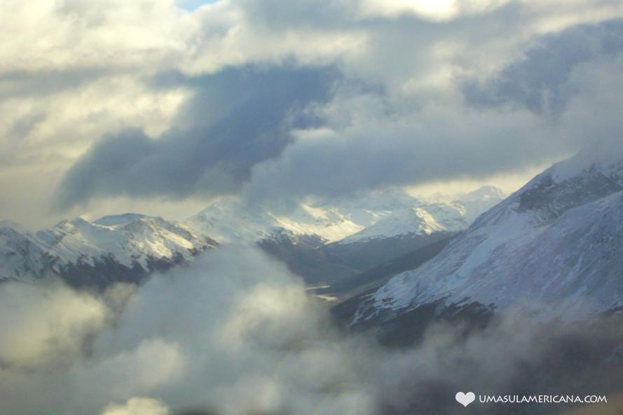 Dicas de viagem para quem vai ao Ushuaia - vista do avião 2