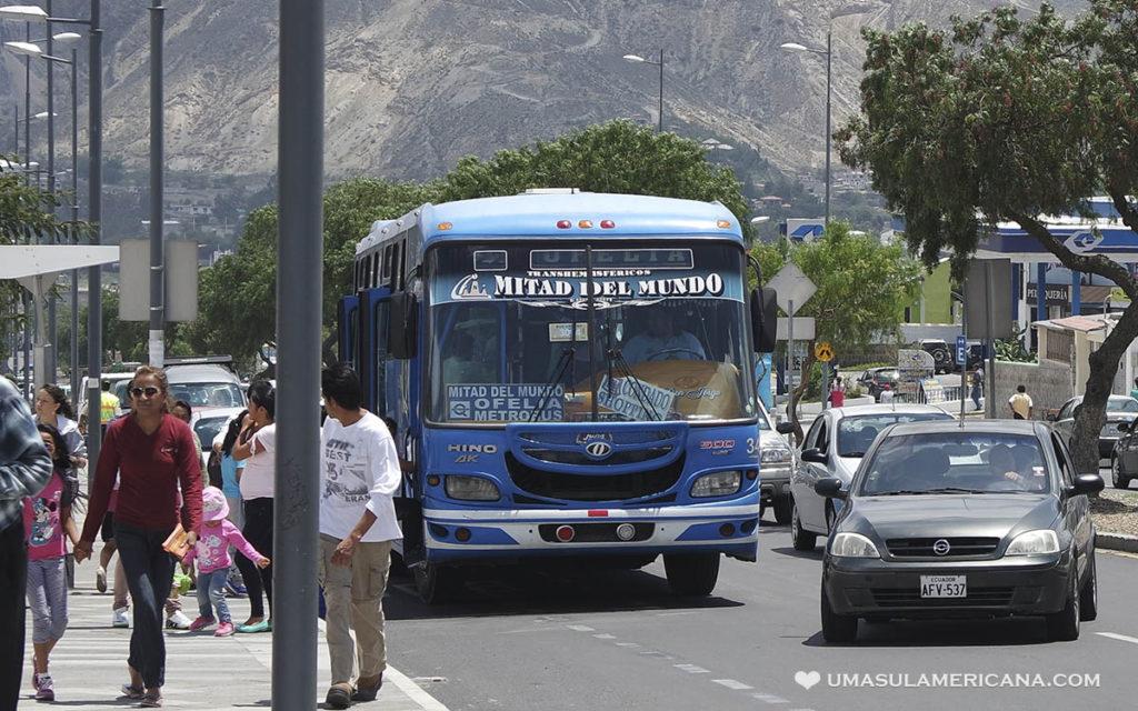 Mitad del Mundo - Como chegar de ônibus do Terminal Ofelia