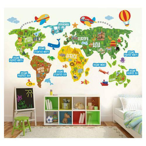 Papel de Parede de mapa infantil pra comprar pela internet - Decoração de Viagem