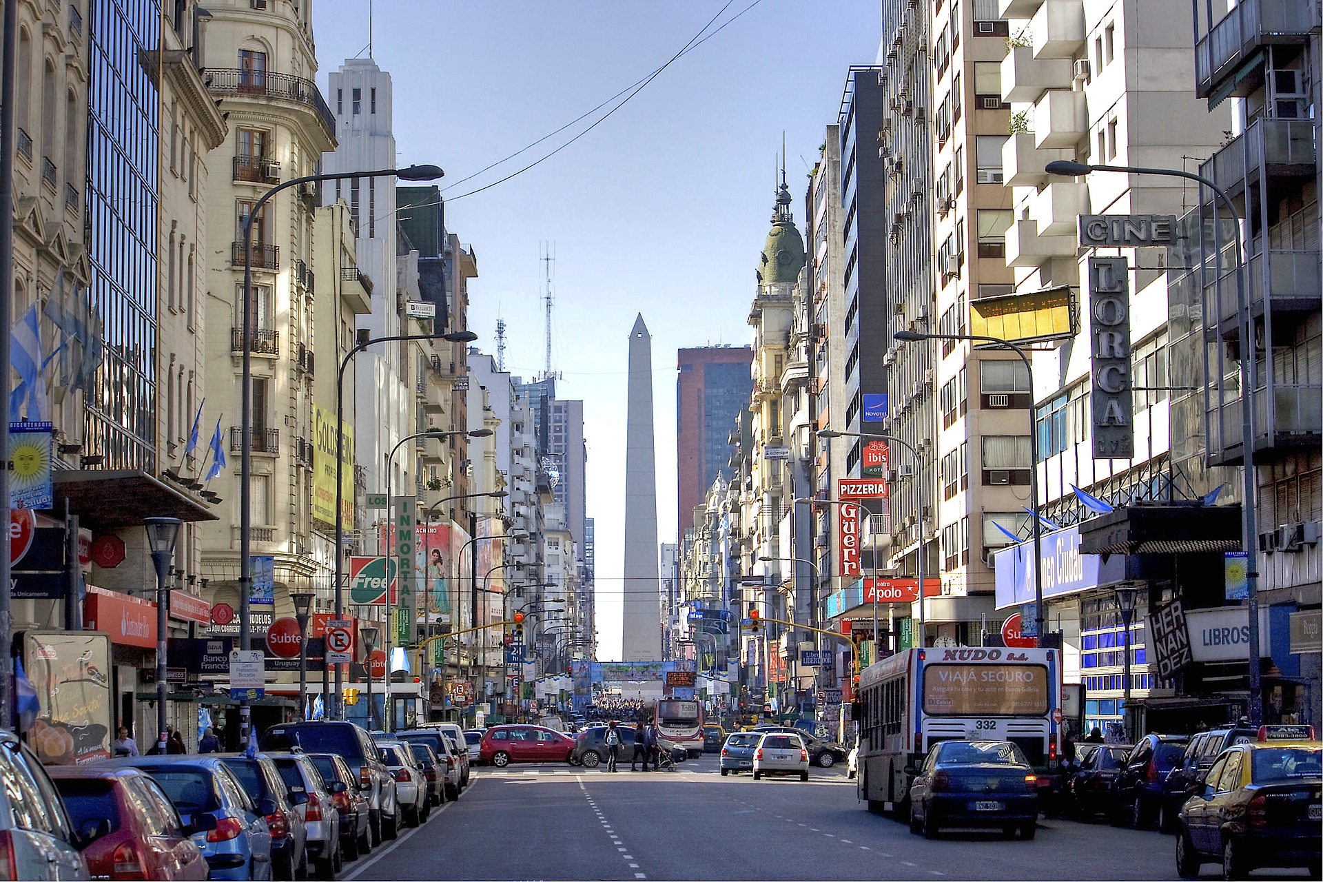 Obelisco - Onde ficar em Buenos Aires - Bairros e hotéis