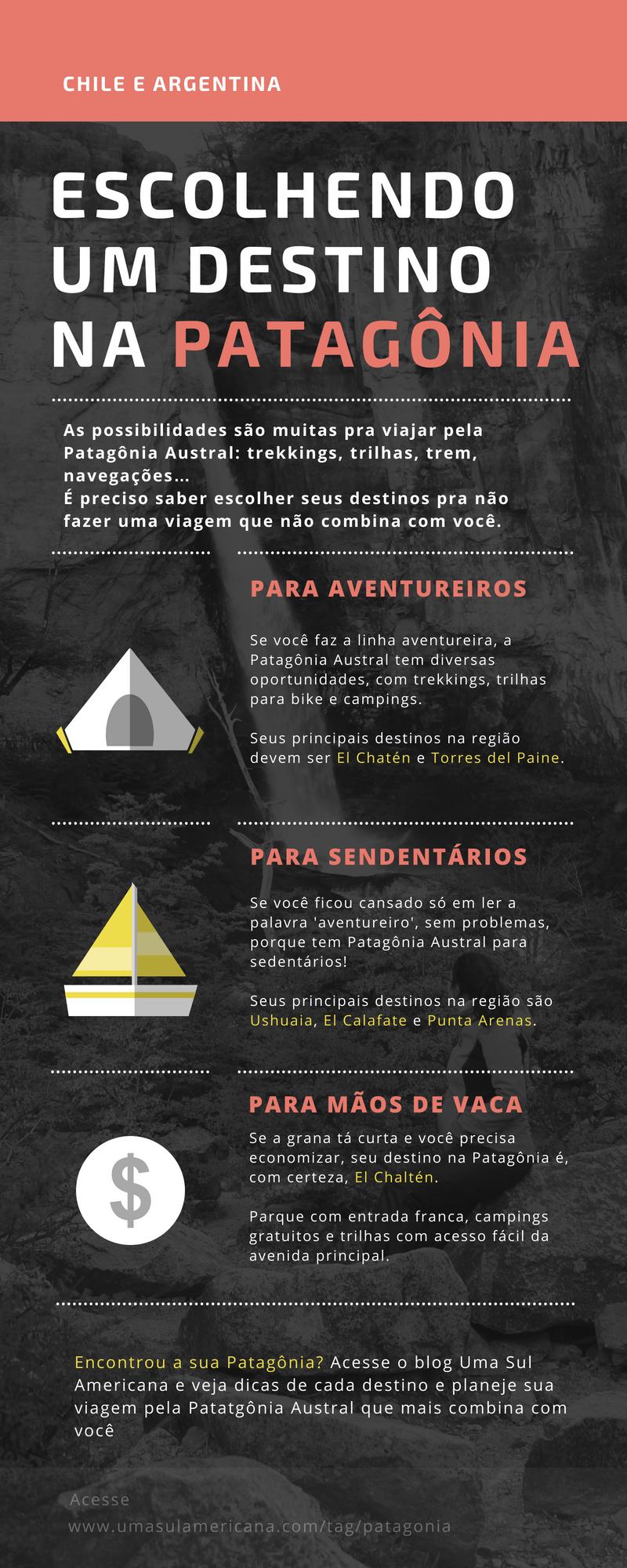 Como escolher um destino na Patagônia Austral: Punta Arenas, Torres del Paine, Ushuaia, El Calafate ou El Chaltén?