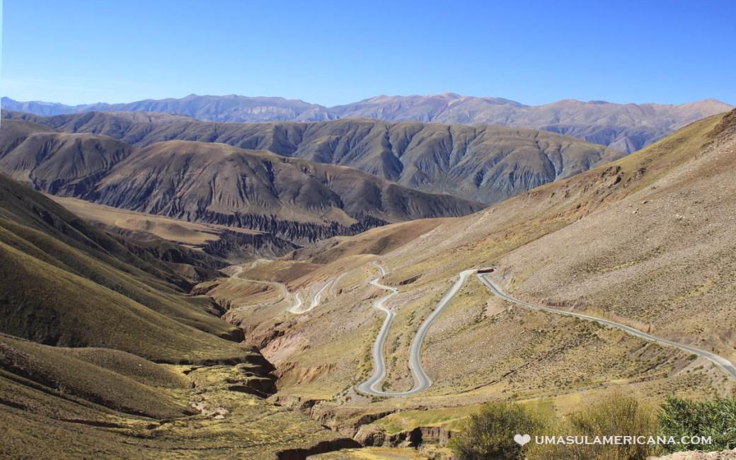Cuesta del Lípan, caminho para Salinas Grandes, em Jujuy - Norte da Argentina