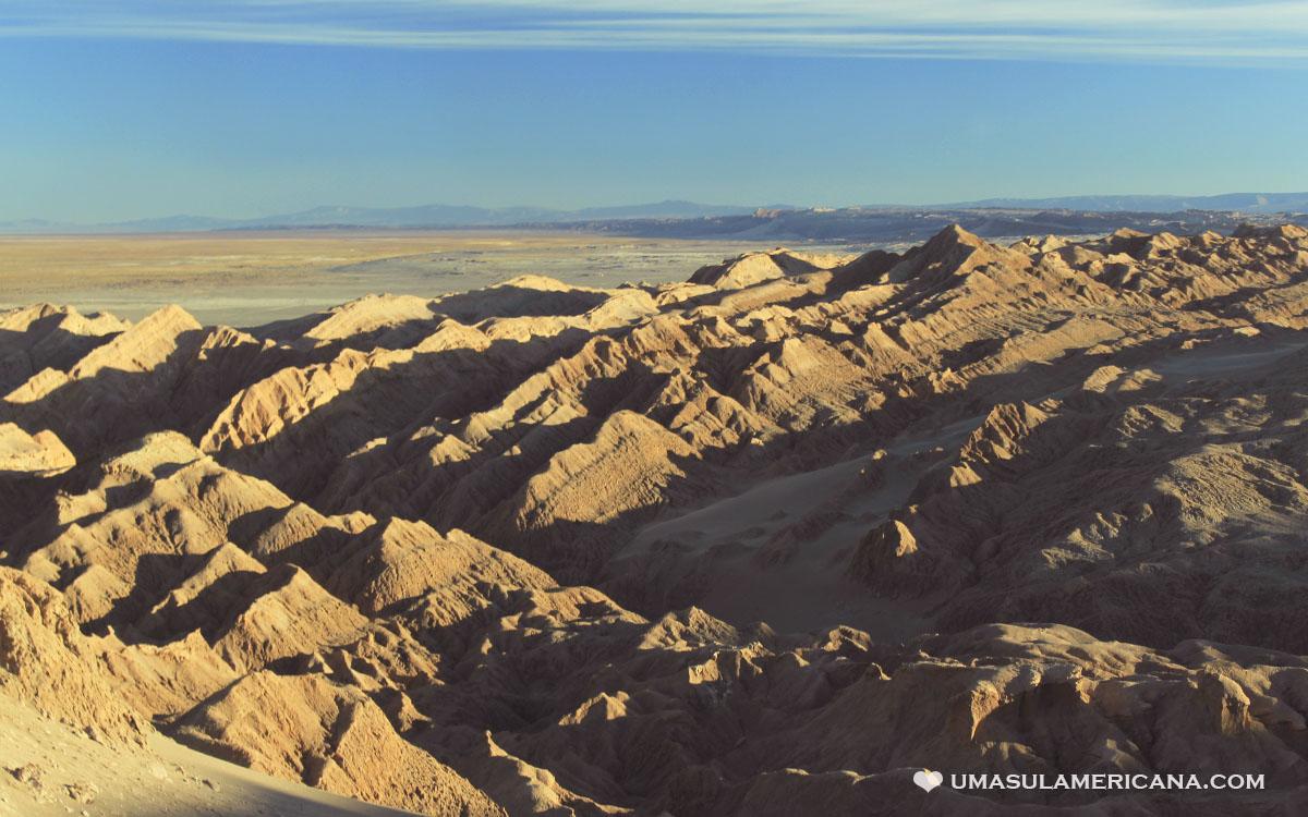 Cordillera de La Sal, Deserto do Atacama, durante o passeio Lagunas Escondidas de Baltinache