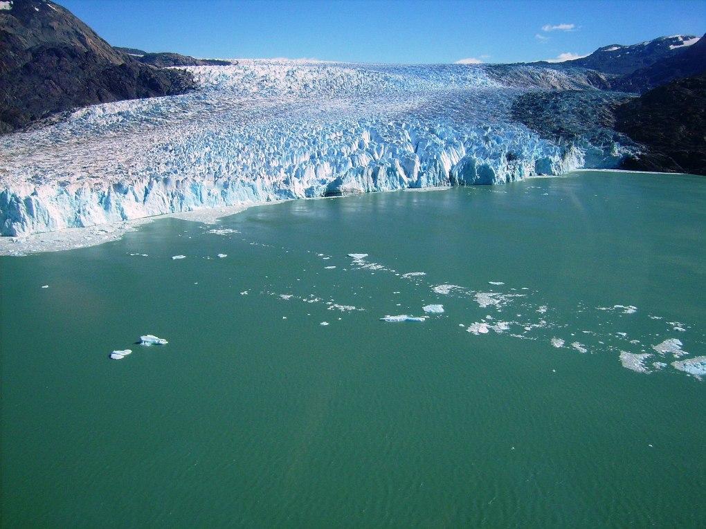 Glaciar O'Higgins, Glaciar na América do Sul