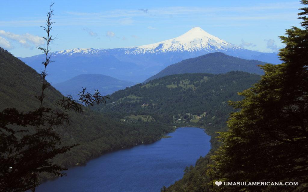 Parque Huerquehue - Mirador vulcão Villarica