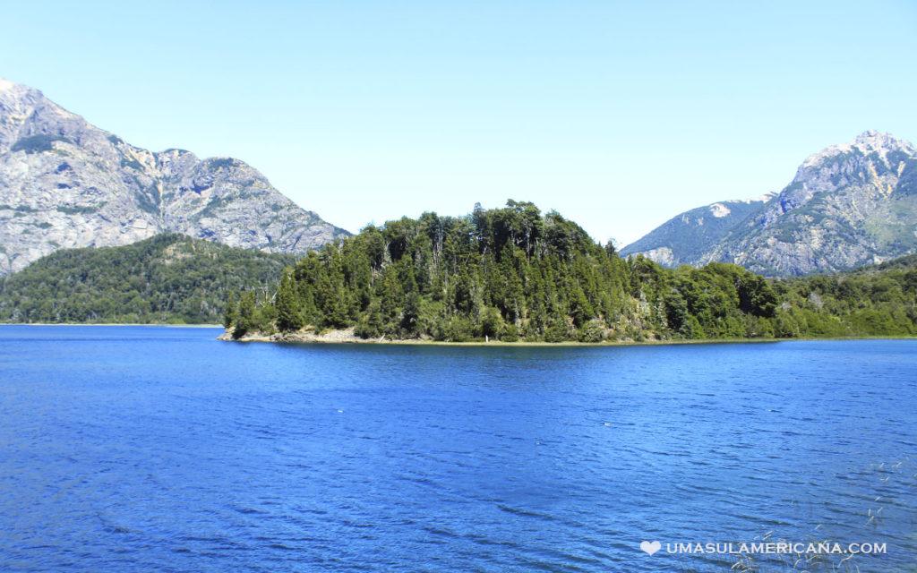 Lago Moreno no Parque Llao Llao em Bariloche, Patagônia Argentina