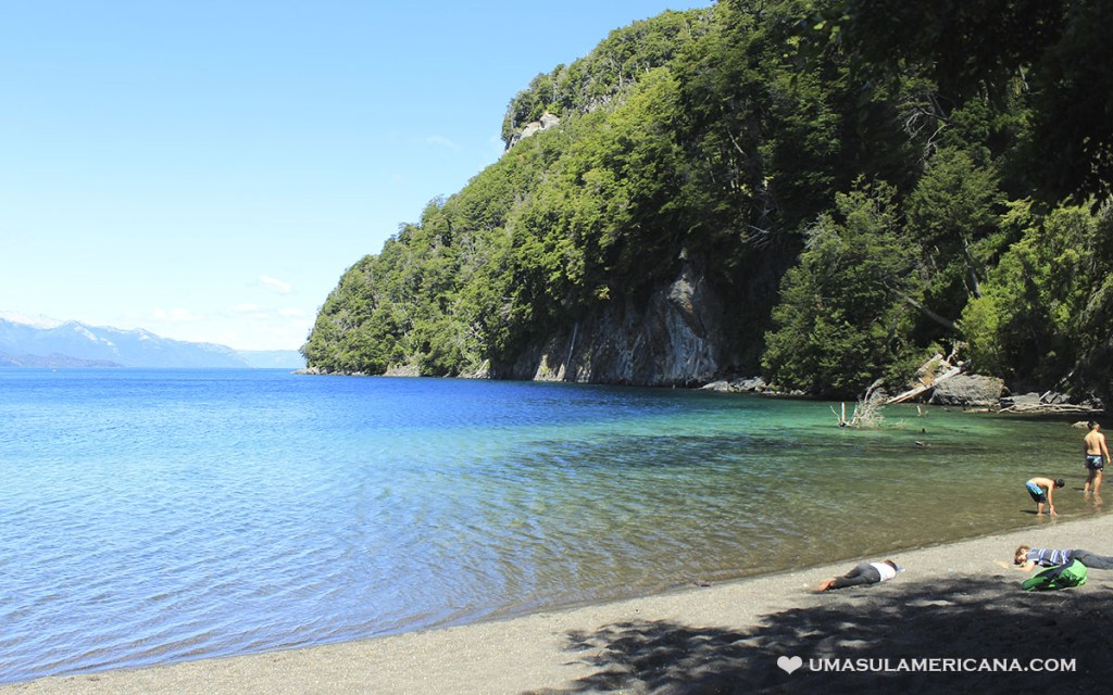 Praia Lago Espejo - Villa La Angostura perto de Bariloche