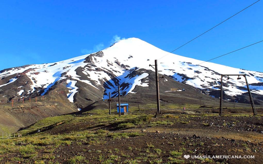 Vulcão Villarica, na Região dos Lagos Andinos entre Argentina e Chile
