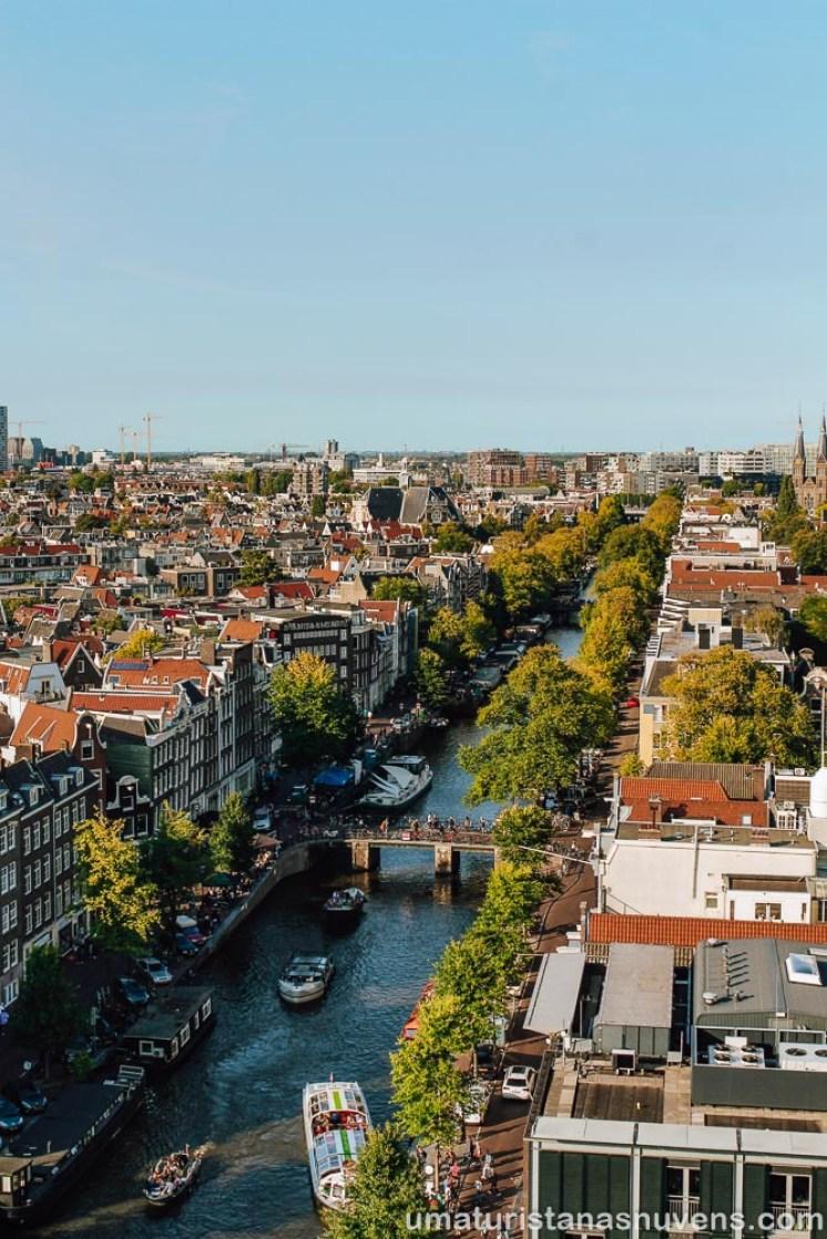 Vista panorâmica do alto da torre da Westerkerk