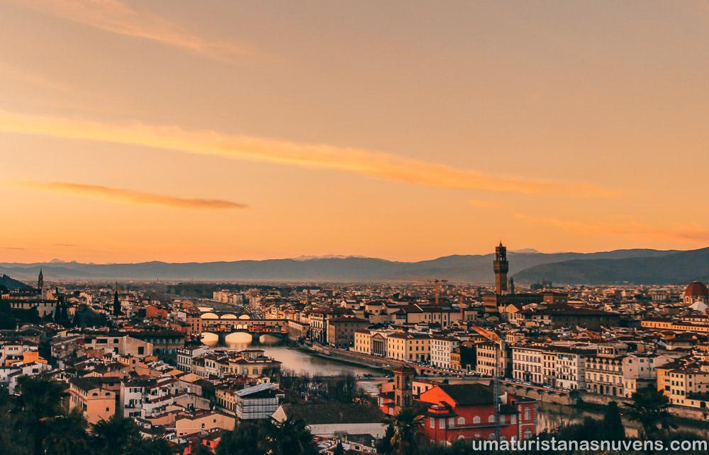 Praça Michelangelo em Florença