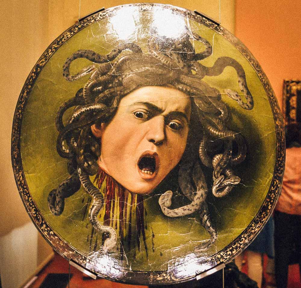 Quadro Medusa - Galeria Uffizi