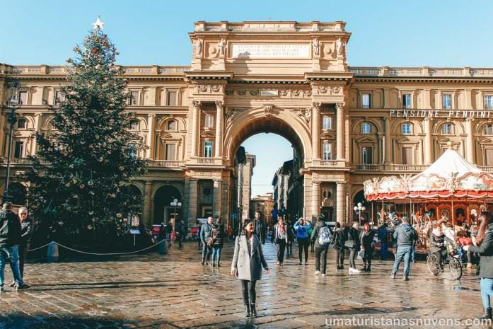 O que fazer em Florença - Praça da República